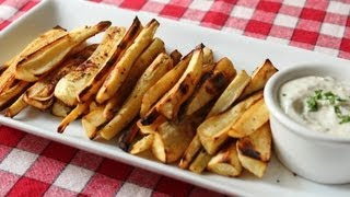 "Oven ""Grilled"" Parsnips Recipe -- Roasted Parsnips Appetizer and Side Dish"