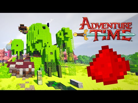 ADVENTURE TIME REDSTONE HOUSE (Redstone Tree Fort & Candy Kingdom!) - Minecraft Redstone House