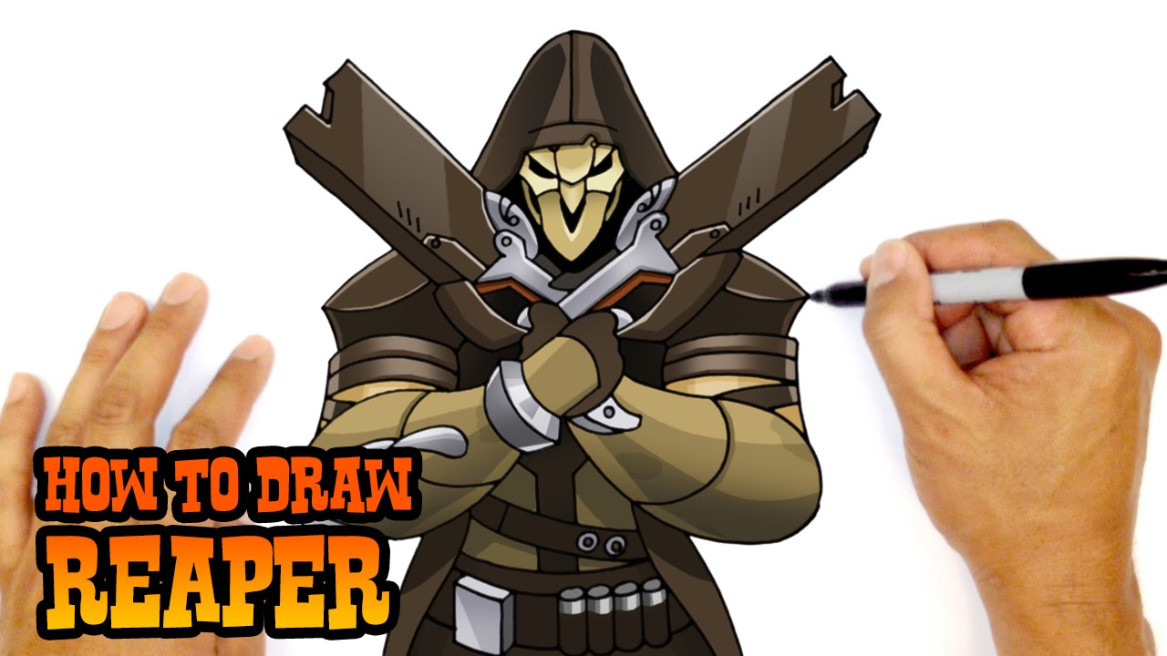 how to draw reaper overwatch youtube