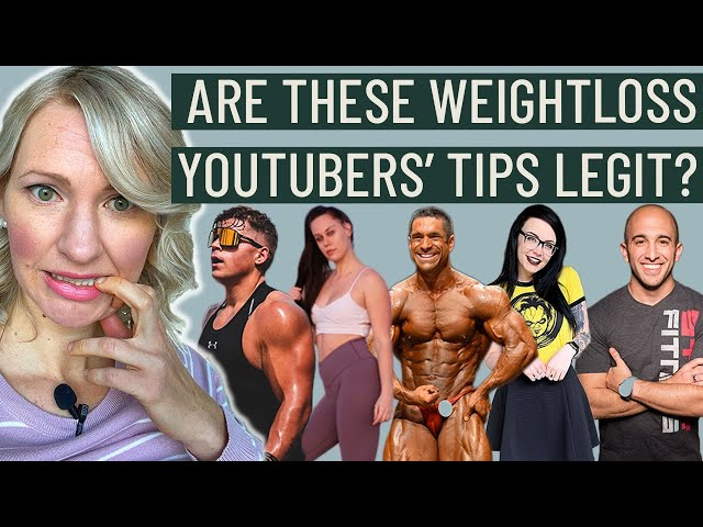 Dietitian Reacts to YouTuber Weight Loss Videos (Sorting through the lies...)