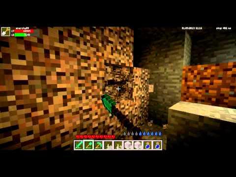 [Minecraft-Galaxy] - эпический поход в шахту ( брат )