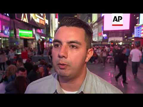 In Times Square, Thoughts on U.S. Strikes