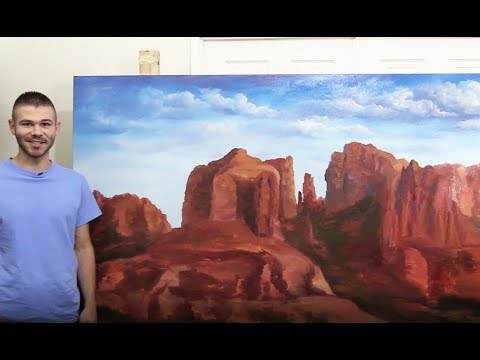 4x8 ft Canvas Desert landscape PART 1 🎨 200k Subscriber Special
