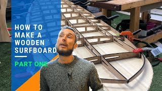 How To Make A Wooden Surfboard part 1 - 8' Mini Mal from DIY surfboard kits