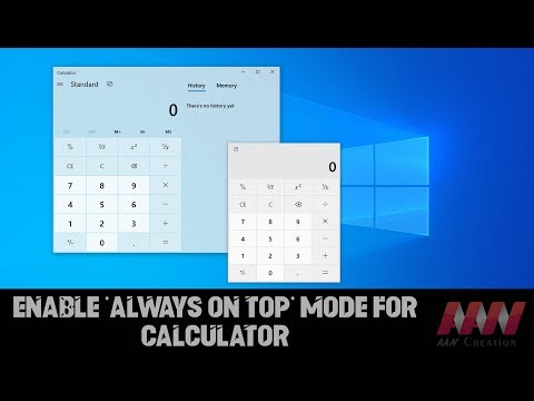How to Enable 'Always on Top' Mode for Calculator on Windows 10