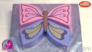 Cómo Hacer una Mariposa con una Torta Redonda