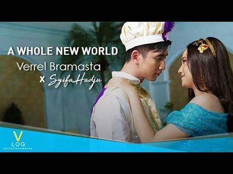 Verrel Bramasta Feat Syifa Hadju - A Whole New World (cover) 4K