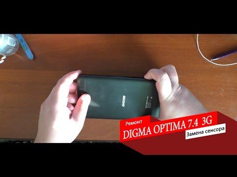 Digma Optima 7.4 3G Замена тачскрина