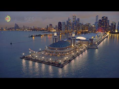 Chicago Night Aerial