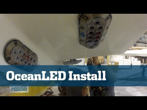OceanLED Underwater Lights Installation On SeaVee 390
