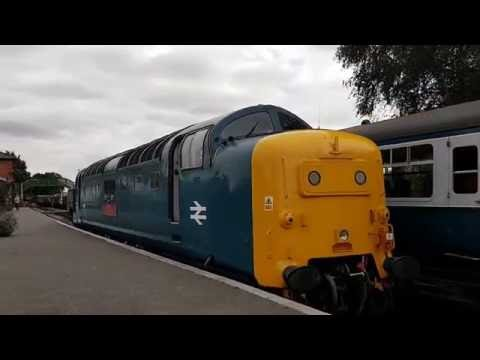 Deltic Cab View, Epping Ongar Railway 22nd Sep 2016 - 55019 Royal Highland Fusilier