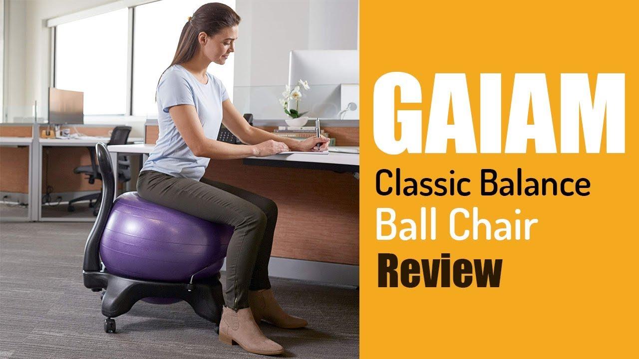 Gaiam Classic Balance Ball Chair Youtube