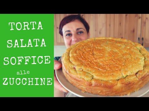 TORTA SALATA SOFFICE ALLE ZUCCHINE Ricetta Facile - Savory Zucchini Cake Easy Recipe