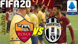 Fifa 20 Roma Vs Juventus | Serie A | 12.01.20 | Ps4 | Gameplay | Dynamic And Closer Camera (hd)