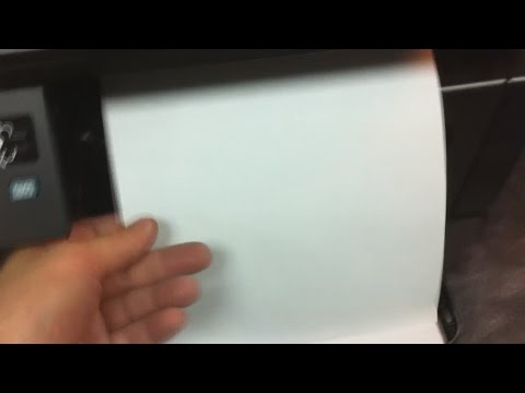 видео: hp lj m1132 белый лист