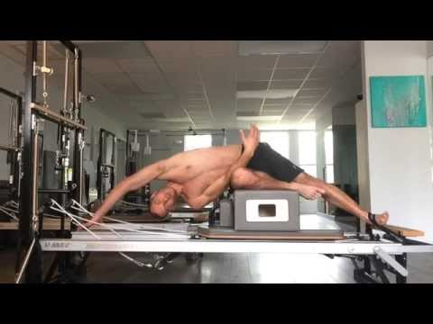 Joseph Pilates hardcore Reformer abs & obliques workout by M