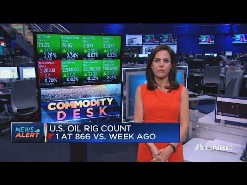US oil rig count down since last week