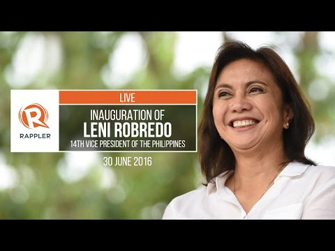LIVE: Inauguration of Leni Robredo