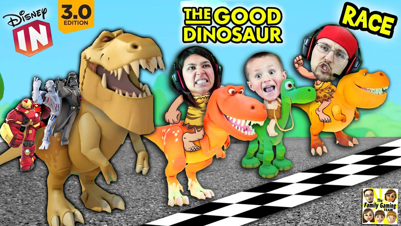 The GOOD DINOSAUR Race!  Disney Infinity 3.0 Arlo's Dino Dash + Toy Box Speedway (FGTEEV Fun)