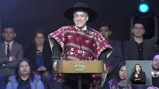 Piñera inaugura Fondas de Santiago con ingeniosa paya