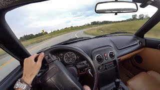 Early Morning Drive in the 94 Project Miata - POV Summer Update! (Binaural Audio)
