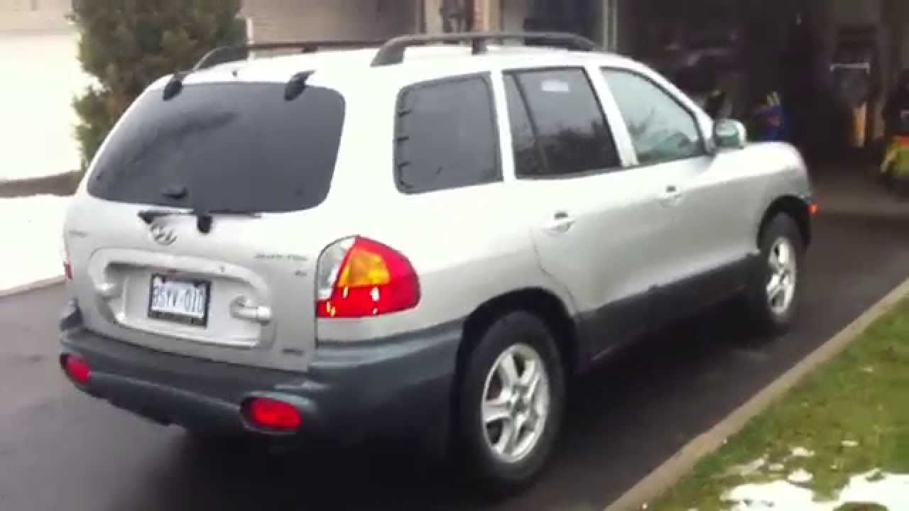 2002 Hyundai Santa-Fe V6 4WD Startup Engine & In Depth Tour - YouTube