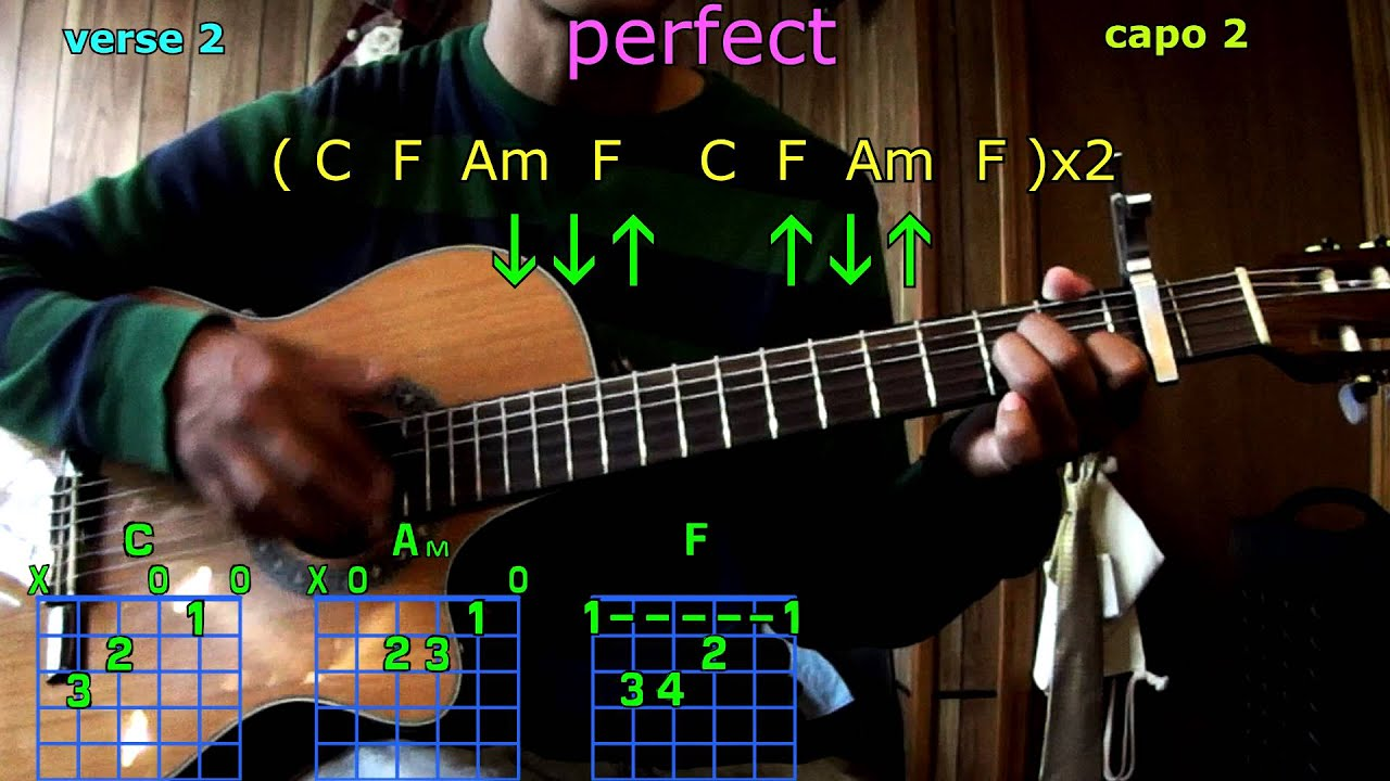 Perfect One Direction Guitar Chords Youtube