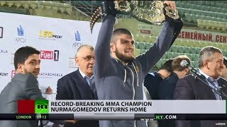 'I hope I met your expectations': Khabib Nurmagomedov gets hero's welcome