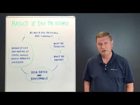 Third Party Thursday Video: Basics of Vendor Due Diligence