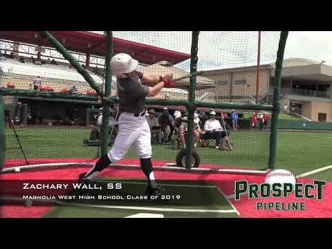 Zachary Wall Prospect Video, SS, Magnolia West High School Class of 2019