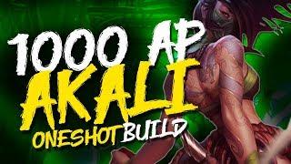 +1000 AP AKALI MiD BUILD Guia/Gameplay | El pick definitivo para subir elo en League of Legends