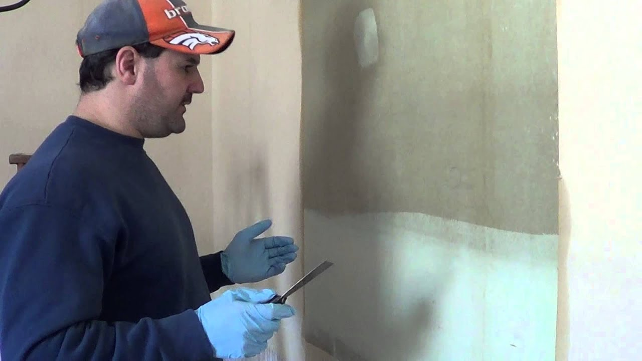 How to remove Wallpaper the right way with no chemicals - YouTube