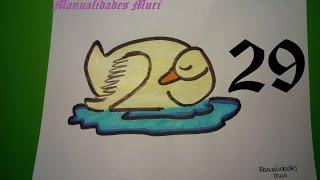 Manualidades. Aprende a dibujar con números: Cisne dormido con el 29