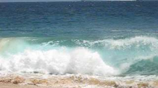 Shore break in  Baja California Cabo san Lucas Lovers beach