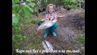Рыбалка на реке с внучкой Ульяной