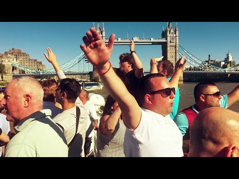 Chelsea away day August 2016: West Ham Fans' Party Boat, en route to Stamford Bridge!