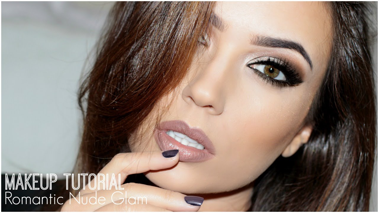 Romantic Nude Glam Makeup Tutorial   TheMakeupChair - YouTube