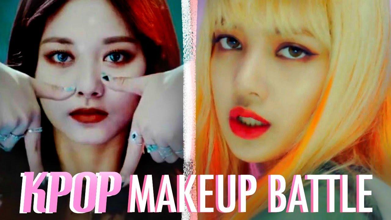 Twice Vs Blackpink Makeup Youtube