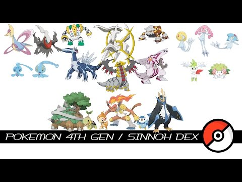Pokemon 4th Gen / Sinnoh Dex