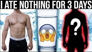 I ate NOTHING for 3 Days and this is what happened | Water Fast