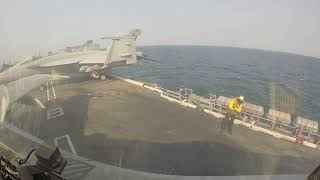F/A-18C Aircraft Carrier Launch-GoPro falls off at cat shot :(