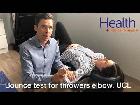 Bounce test for throwers elbow, UCL   Melbourne Sports Chiropractor