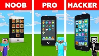 Minecraft Noob Vs Pro Vs Hacker Iphone Challenge In Minecraft  New Animation