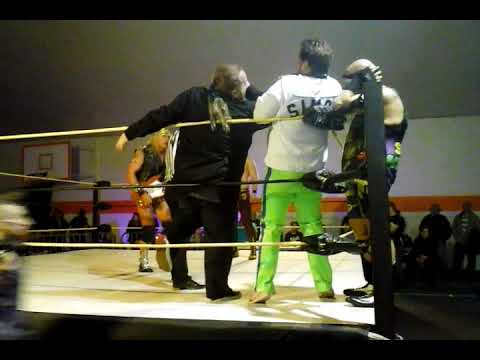 Rampage Raddison and Simon Dean W/ Jason Saint vs. Tyler Jones and Diamond Steele