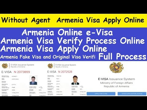 How to Online Apply Armenia Visa Without Agent l Armenian Visa Online Check l Armenia Online eVisa