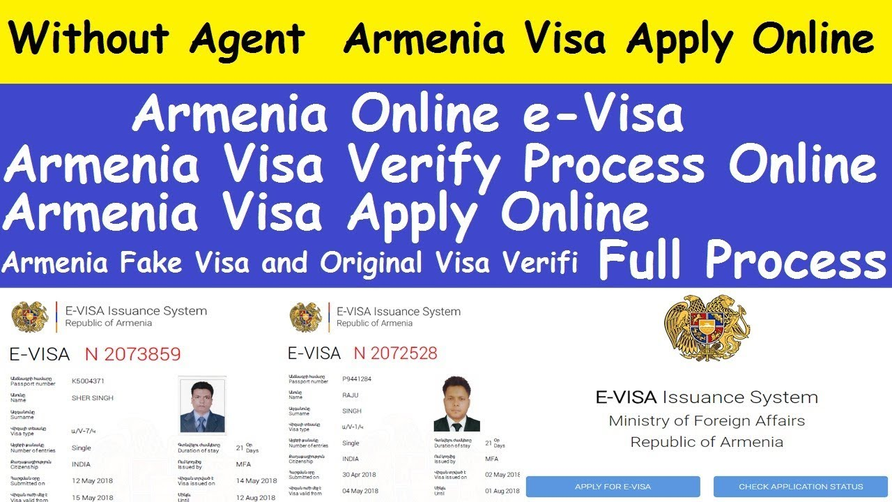 How To Online Apply Armenia Visa Without Agent L Armenian Visa Online Check L Armenia Online Evisa Youtube