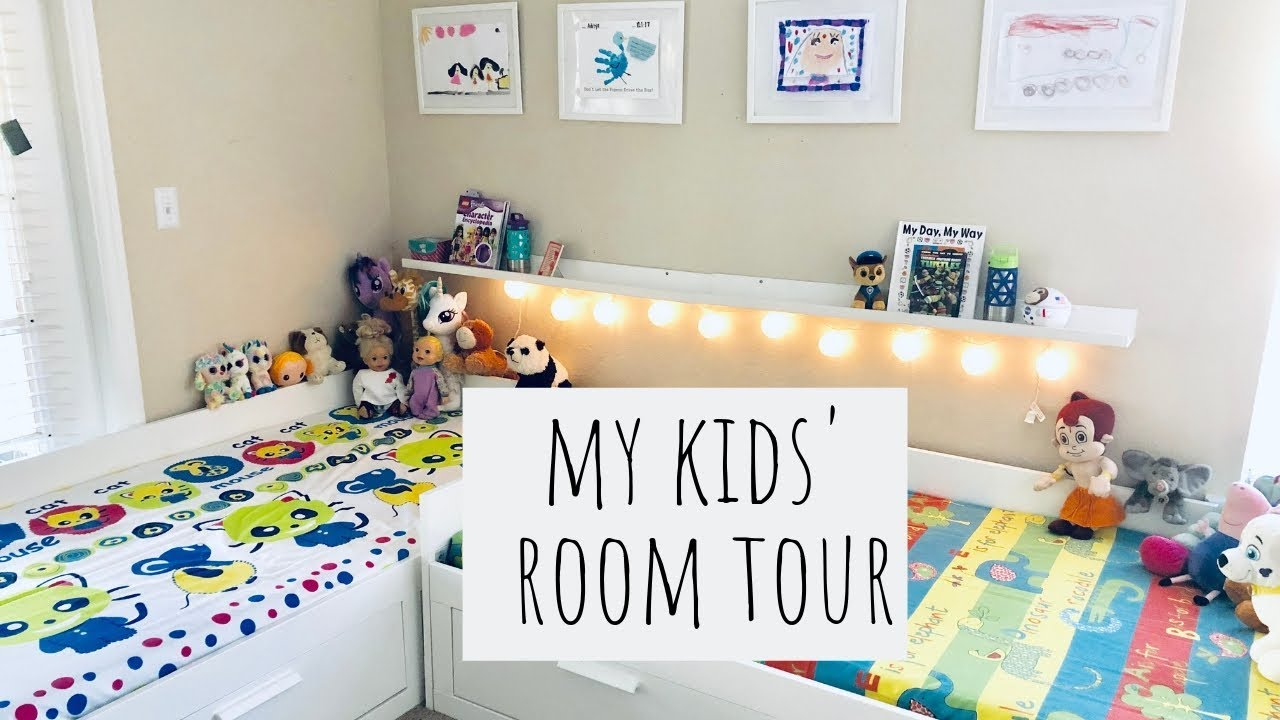 Kids Bedroom Tour Room Organizing And Decor Ideas Ikea Hacks