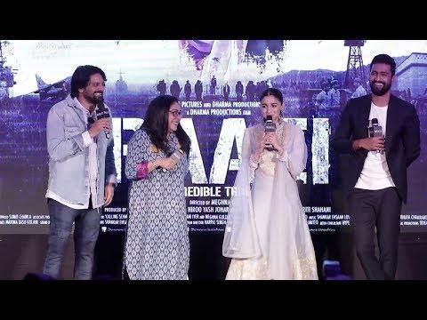 Ae Watan Song Launch From Raazi Movie | Alia Bhatt, Meghna Gulzar, Vicky Kaushal, Jaideep Ahlawat