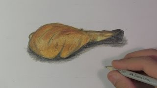 Realistic Chicken Leg (Speed Drawing)
