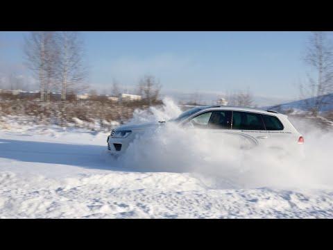 Тест драйв Volkswagen Touareg 3.6 249 л.с. / Испытание в снегу / Туарег на бездорожье